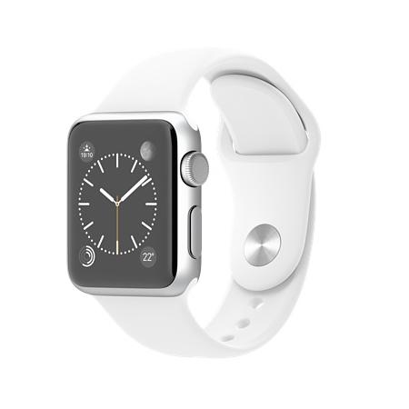 Apple Watch Sport 38mmシルバーアルミニウムケースとホワイトスポーツバンド MJ2T2J/A