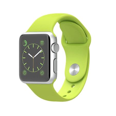 Apple Watch Sport 38mmシルバーアルミニウムケースとグリーンスポーツバンド MJ2U2J/A