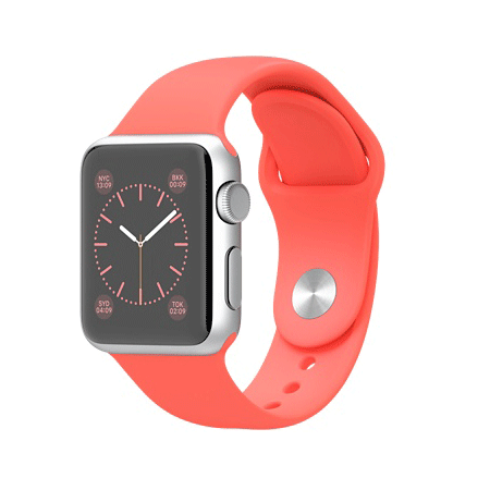 Apple Watch Sport 38mmシルバーアルミニウムケースとピンクスポーツバンド MJ2W2J/A