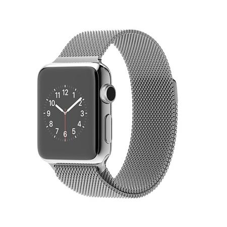 Apple Watch 38mmステンレススチールケースとミラネーゼループ MJ322J/A