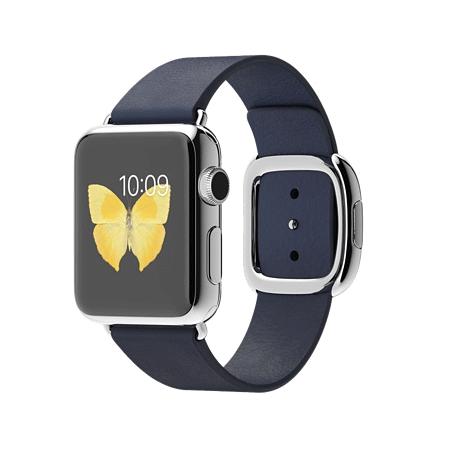 Apple Watch 38mmステンレススチールケースとミッドナイトブルーモダンバックル MJ332J/A【S】 MJ342J/A【M】 MJ352J/A【L】