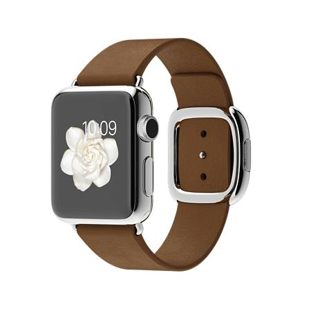Apple Watch 38mmステンレススチールケースとブラウンモダンバックル MJ3A2J/A【S】 MJ3C2J/A【M】 MJ3D2J/A【L】