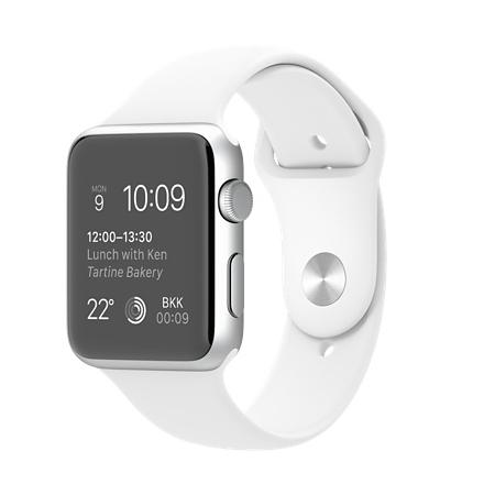 Apple Watch Sport 42mmシルバーアルミニウムケースとホワイトスポーツバンド MJ3N2J/A