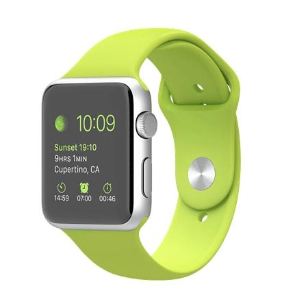 Apple Watch Sport 42mmシルバーアルミニウムケースとグリーンスポーツバンド MJ3P2J/A