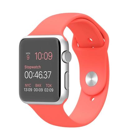 Apple Watch Sport 42mmシルバーアルミニウムケースとピンクスポーツバンド MJ3R2J/A