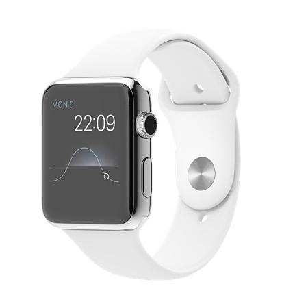 Apple Watch 42mmステンレススチールケースとホワイトスポーツバンド MJ3V2J/A