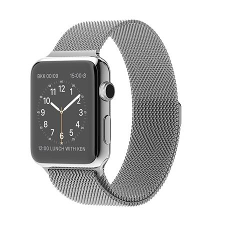 Apple Watch 42mmステンレススチールケースとミラネーゼループ MJ3Y2J/A