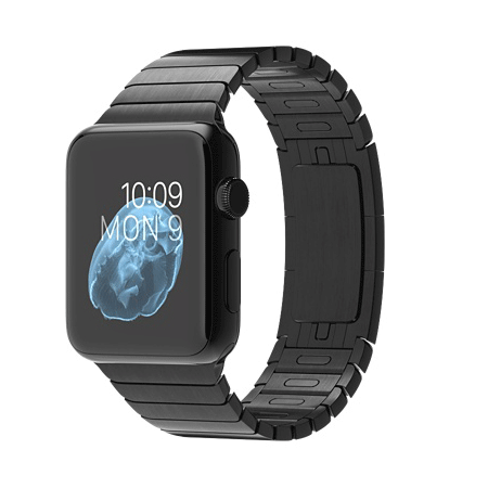 Apple Watch 42mmスペースブラックステンレススチールケースとスペースブラックリンクブレスレット MJ482J/A