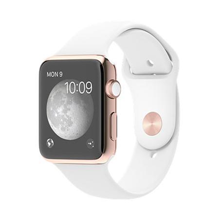 Apple Watch Edition 42mm 18Kローズゴールドケースとホワイトスポーツバンド MJ4A2J/A
