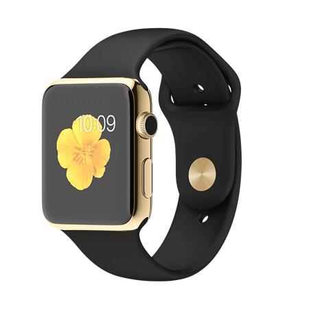 Apple Watch Edition 42mm 18Kイエローゴールドケースとブラックスポーツバンド MJ8Q2J/A