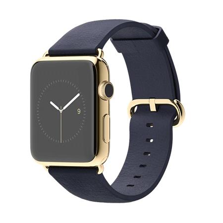 Apple Watch Edition 42mm 18Kイエローゴールドケースとミッドナイトブルークラシックバックル MJVT2J/A