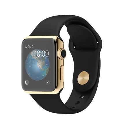 Apple Watch Edition 38mm 18Kイエローゴールドケースとブラックスポーツバンド MKL52J/A