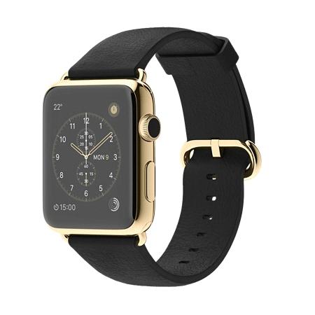 Apple Watch Edition 42mm 18Kイエローゴールドケースとブラッククラシックバックル MKL62J/A